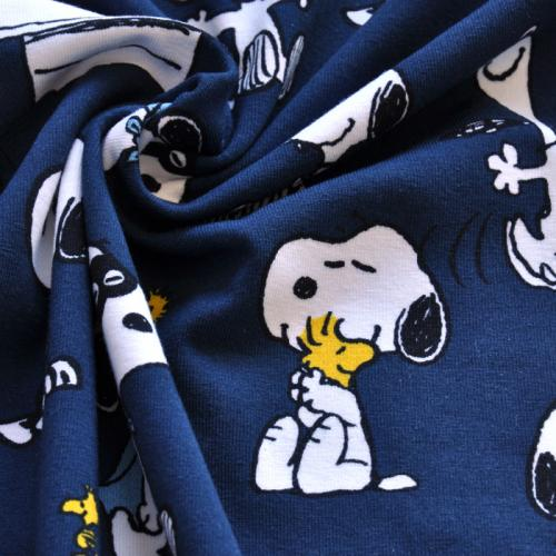 Bio-Jersey Snoopy Maske blau - stoffbotin - Bio-Stoffe für kreative ...